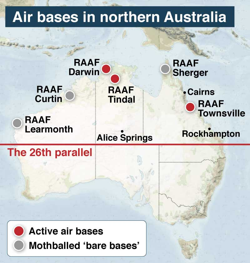 Map Of Western Australia 26th Parallel.Holes In Military North Of 26th Parallel Leave Australia S
