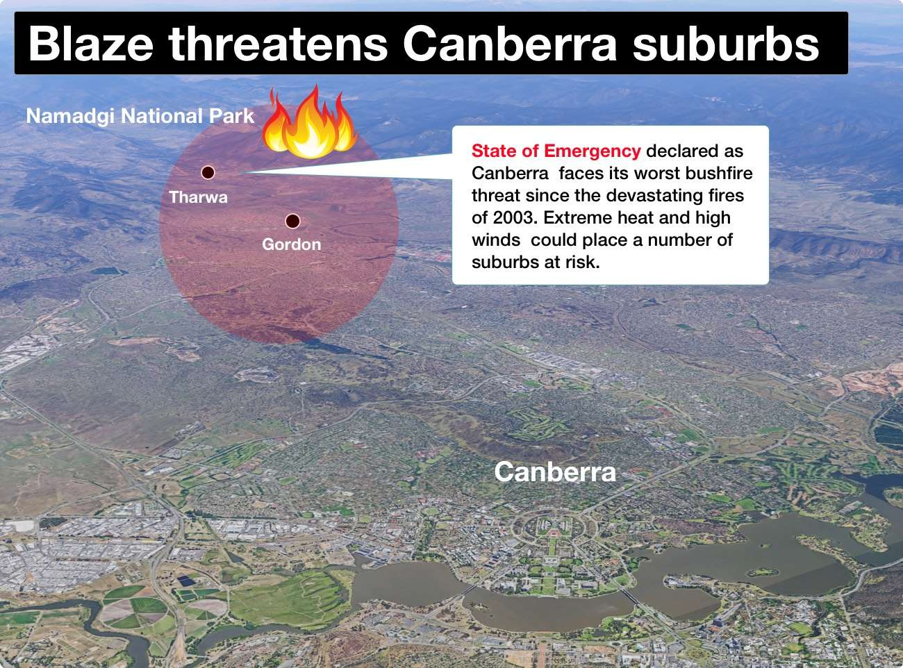 NED-1092 Canberra Fire Map - 0